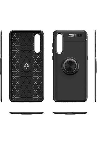 Case Street Xiaomi Redmi Note 8T Kılıf Ravel Yüzüklü Mıknatıslı Silikon Bordo