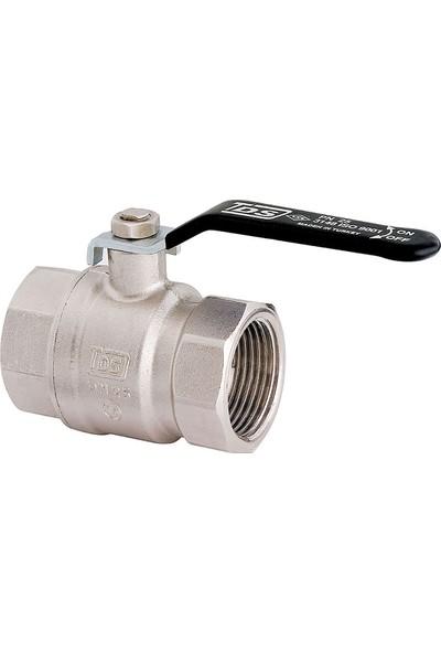 "Tds 3/4"" Küresel Su Vanası Tam Geçişli Çelik Kollu PN16 DN20"