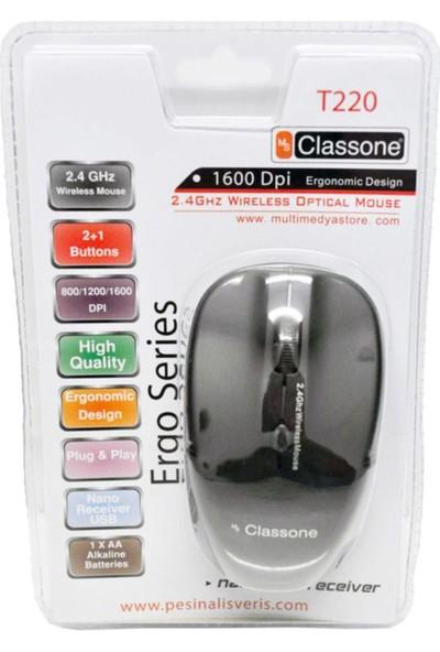 Classone T220 1000DPI Kablosuz Mouse - Siyah 978029
