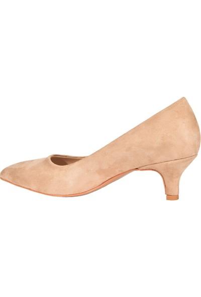 Eşle 9K-37100 Kadın Topuklu Ayakkabı Bej