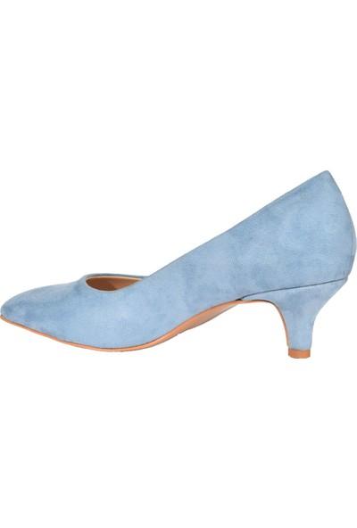 Eşle 9K-37100 Kadın Topuklu Ayakkabı Mavi