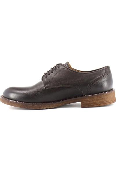 Eşle 9K-M650-2 Erkek Deri Günlük Ayakkabı Kahverengi Koyu