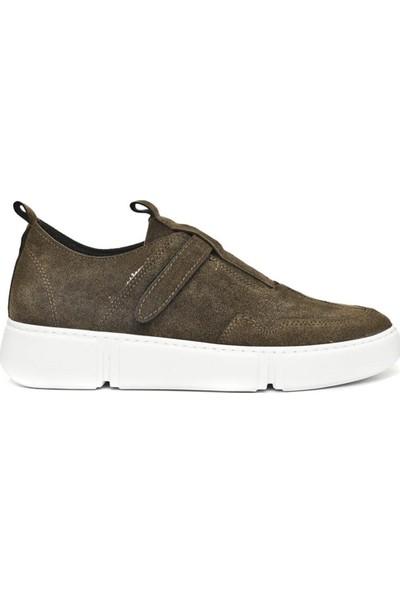 Conteyner Süet Erkek Kışlık Ayakkabı Haki