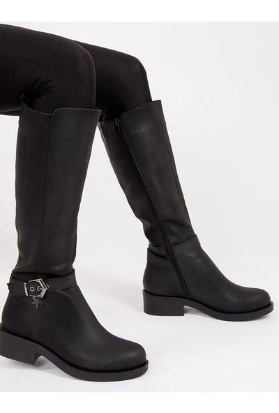 Fox Shoes Siyah Kadın Çizme G674240109