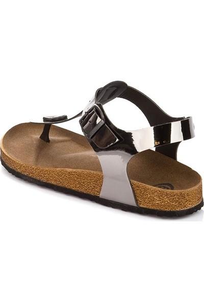 Fox Shoes Platin Kadın Sandalet B777805034