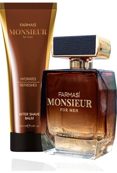 Farmasi Monsieur Edp 100 ml + Tıraş Sonrası Losyonu 100 ml Erkek Parfüm Seti