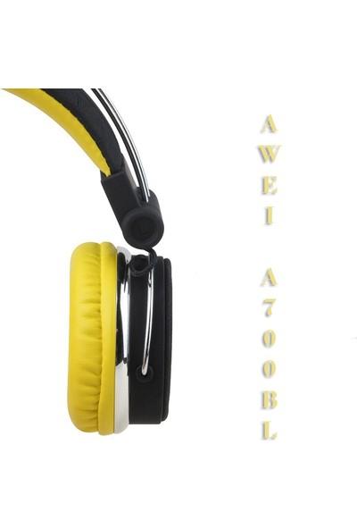 Awei Bluetooth Kulaküstü Kulaklık A700BL - Sarı