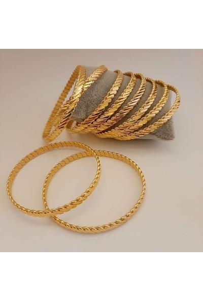 Altındolabım Altın Kaplama Adana Burma Bilezik 22 Ayar Düğün Nişan Kına