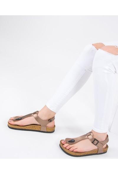 Fox Shoes Bronz Kadın Sandalet B777805009
