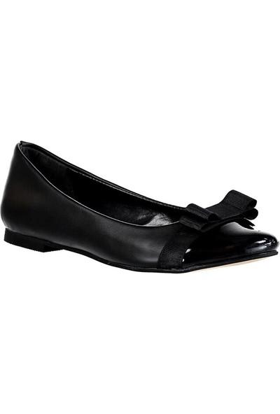 Fox Shoes Siyah Kadın Babet D726019509