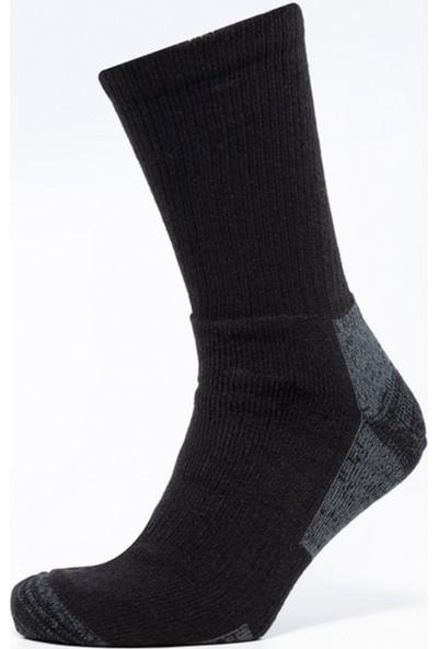 Alpinist Akrilik Takfiyeli Yün Çorap Siyah