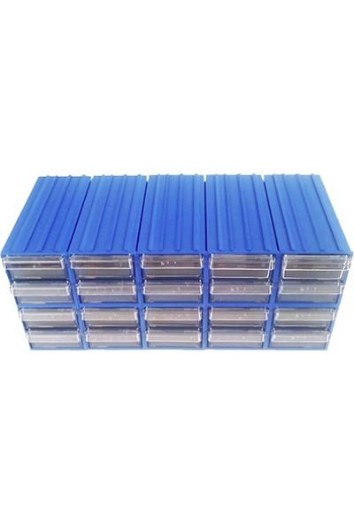Sembol 300 Plastik Çekmeceli Kutu 60 Çekmeceli