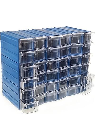 Sembol Y114 Plastik Çekmeceli Kutu 36 Çekmeceli
