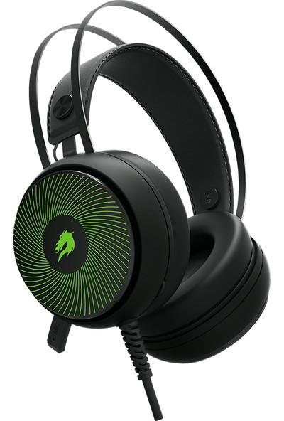 GameBooster H12 Rebel RGB 7.1 Virtual Kısa Mikrofonlu Siyah Oyuncu Kulaklığı GB-H12