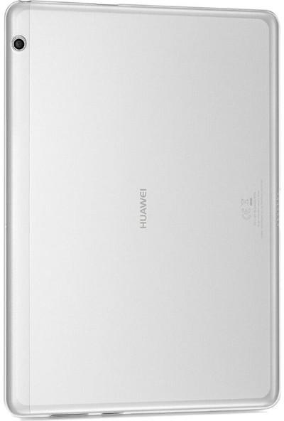 "Tbkcase Huawei MediaPad T3 10"" Lüks Tpu Silikon Kılıf Şeffaf + Nano Ekran Koruyucu"