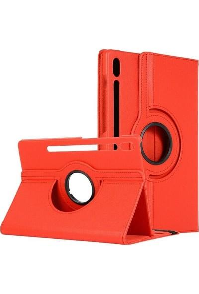 Tbkcase Samsung Galaxy Tab S6 10.5 T860 360 Dönerli Standlı Kılıf Kırmızı