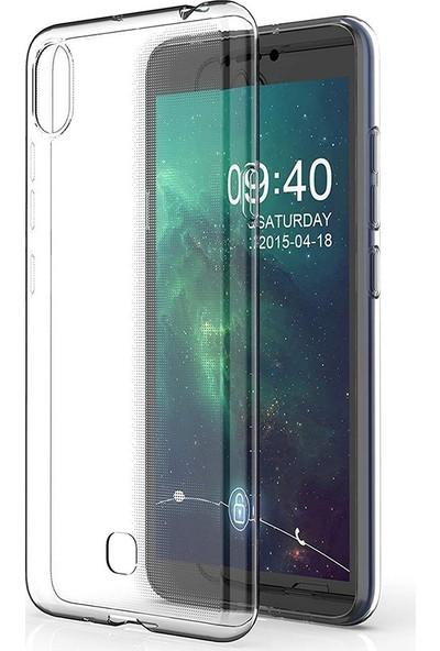 KNY LG K20 2019 Kılıf Ultra İnce Şeffaf Silikon + Nano Cam Ekran Koruyucu - Şeffaf