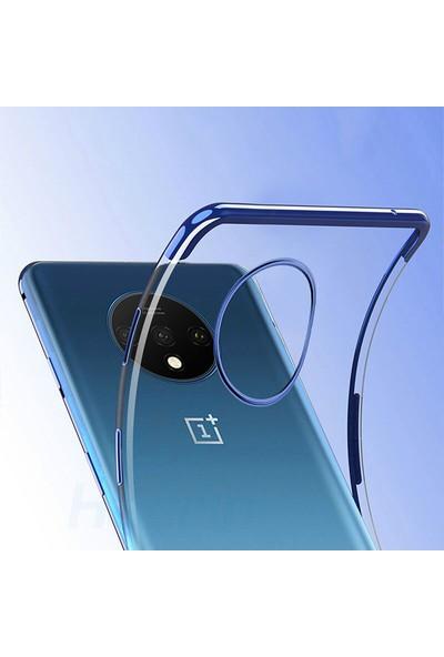 Microcase OnePlus 7T Plating Series Soft Silikon Kılıf - Mavi