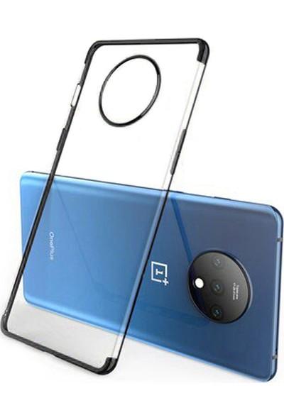 Microcase OnePlus 7T Plating Series Soft Silikon Kılıf - Siyah