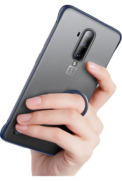 Microcase OnePlus 7T Pro Frameless Serisi Sert Rubber Kılıf - Mavi