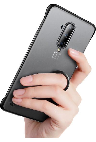 Microcase OnePlus 7T Pro Frameless Serisi Sert Rubber Kılıf - Siyah