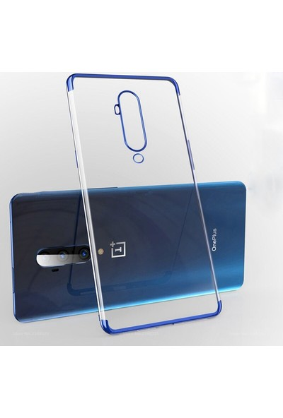 Microcase OnePlus 7T Pro Plating Series Soft Silikon Kılıf - Mavi