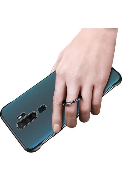 Microcase Oppo A5 2020 - A9 2020 Frameless Serisi Sert Rubber Kılıf - Siyah