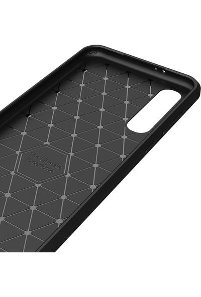 Microcase Xiaomi Mi 9 Pro Brushed Carbon Fiber Silikon Kılıf - Siyah