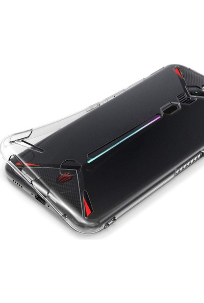 Microcase ZTE Nubia Red Magic 3 - 3S Ultra İnce 0.2 mm Soft Silikon Kılıf - Şeffaf
