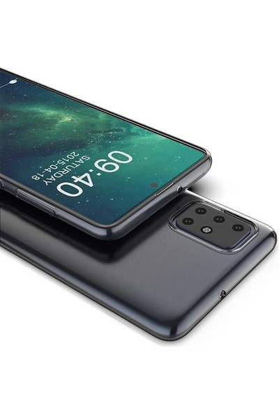 Tekno Grup Samsung Galaxy A51 Kılıf Darbe Emici Süper Silikon Kılıf Şeffaf