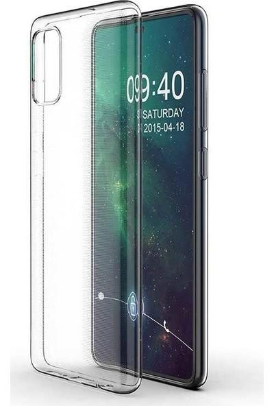 Tekno Grup Samsung Galaxy A51 Kılıf Darbe Emici Süper Silikon Kılıf + Cam Ekran Koruyucu Şeffaf