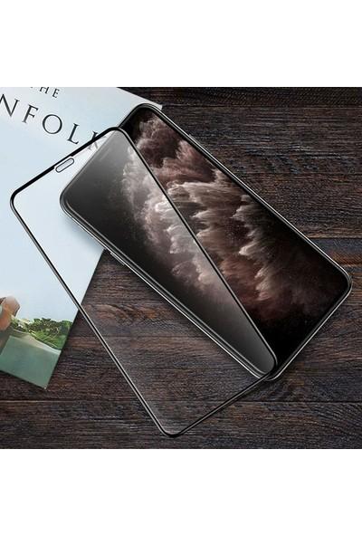 Tekno Grup Samsung Galaxy M30 Tam Kaplayan Temperli Cam Ekran Koruyucu Siyah