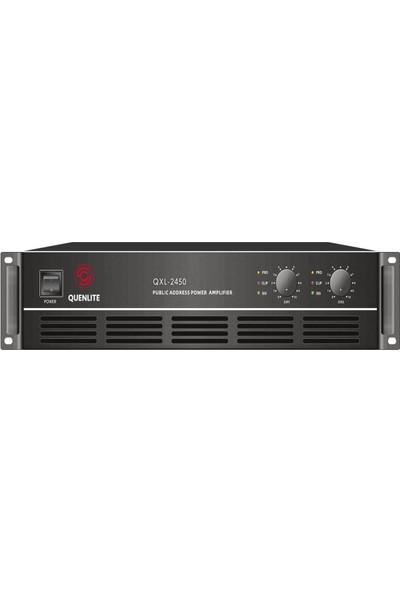 Quenlite QXL-2450 Stereo Power Anfi 2x450 Watt Hat Trafolu 100V/8 Ohm