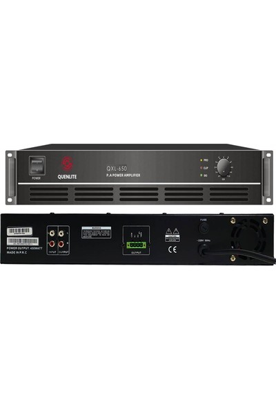 Quenlite QXL-650 Power Anfi 650 Watt Hat Trafolu 100V/8 Ohm