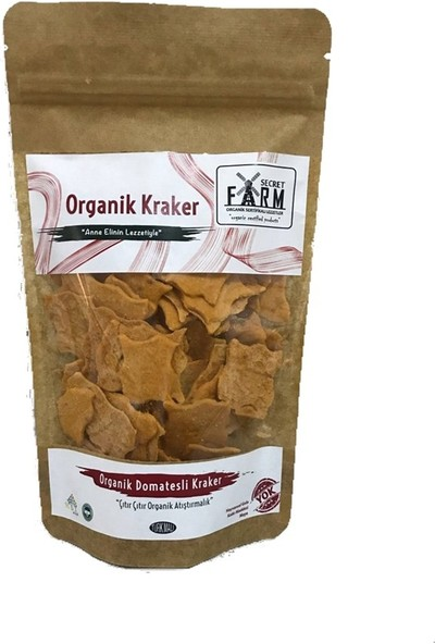 Secret Farm Organik Domatesli Kraker Yaprak Galeta 100 gr