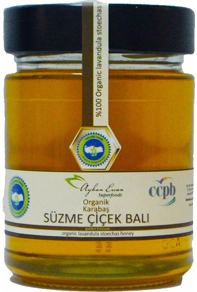 Ayhan Ercan Superfoods Organik Karabaş Süzme Çiçek Balı 350 g
