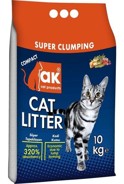 Akkum Topaklaşan Kedi Kumu Marsilya Sabunlu Kalın Taneli 10 kg