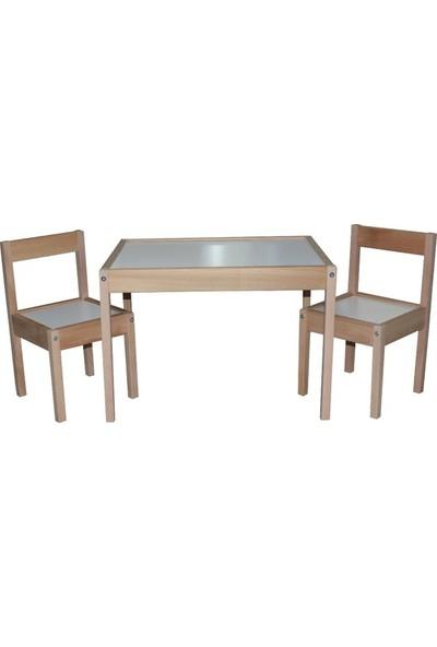 MakeArt Home Yaz - Sil Yüzey Çocuk Masa Sandalye Seti + Kalem + Silgi