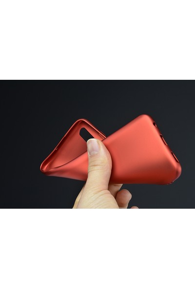 Happyshop Honor 20 Lite Kılıf Ultra İnce Mat Silikon + Nano Cam Ekran Koruyucu - Kırmızı