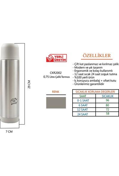 Cooker Paslanmaz Çelik Termos 750 ml / 12 Saat Sıcak – 24 Saat Soğuk