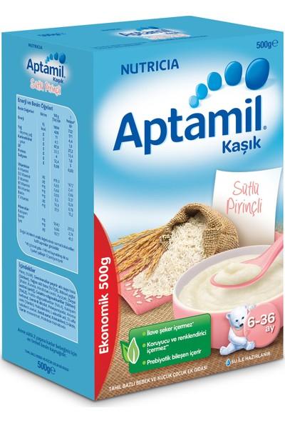 Aptamil Kaşık Sütlü Pirinçli Tahıl Bazlı Kaşık Maması 500 gr