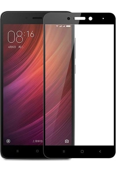 Casestore Xiaomi Redmi Note 4X 5D Fiber Nano Ekran Koruyucu Cam - Siyah