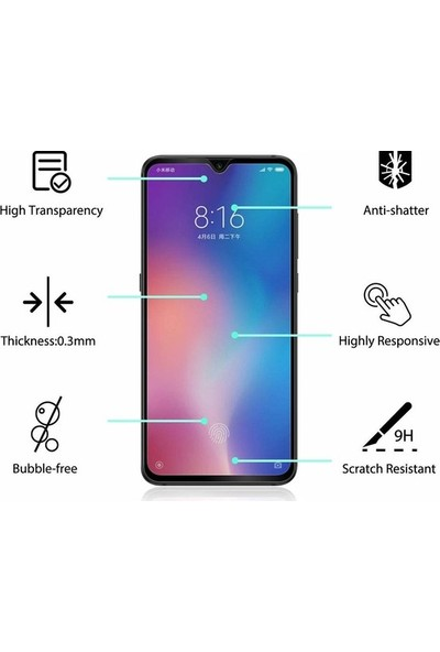 Casestore Samsung Galaxy A9 2018 5D Fiber Nano Ekran Koruyucu Cam - Siyah