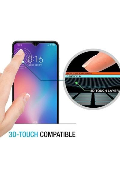 Casestore Huawei Y7 Prime 2019 5D Tam Kaplayan Cam - Siyah