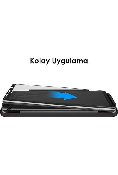 Casestore Samsung Galaxy A7 2017 Full Koruma Tam Kaplayan Ekran Koruyucu Cam - Siyah