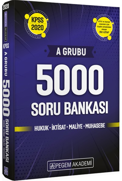2020 KPSS A Grubu 5000 Soru Bankası Hukuk İktisat Maliye Muhasebe