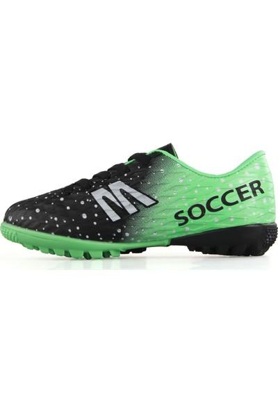 Mp 191 7370 Erkek Çocuk Futboll Halı Saha Ayakkabı Siyah Yeşil