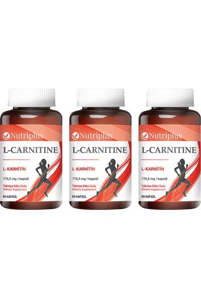 Nutriplus L-Karnitin 60 Kapsül 3 Adet