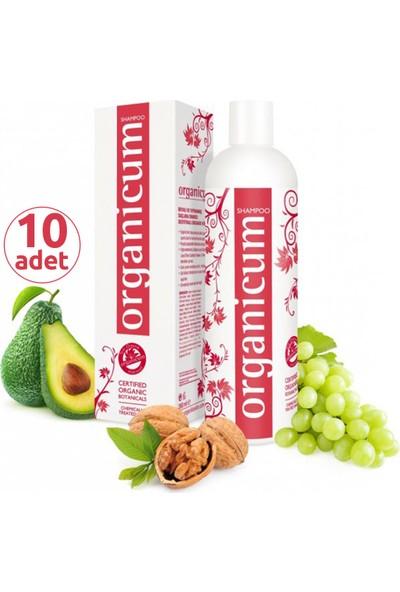 Organicum Boyalı Yıpranmış Saçlar İçin Onarıcı Şampuan 350 ml x 10 Adet