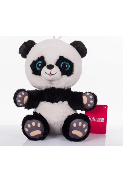 Selay Toys Renkli Gözlü Sevimli Panda 15 cm Peluş Oyuncak